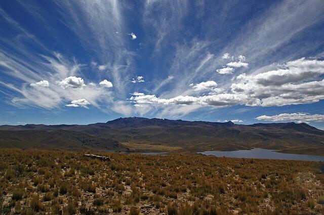 Fotografia krajiny v Peru odkiaľ pochádza Maca peruánska