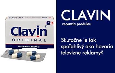 Tabletky Clavin pozná veľa mužov z televíznych reklám. V tejto recenzii podávam ucelený sumár informácií, ktoré by ste pred jeho kúpou mali vedieť.