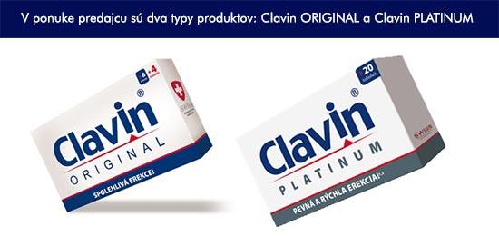 V minulosti bolo v ponuke predajcu viac typov tabletiek Clavin