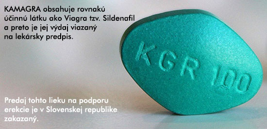 Upozornenie. Predaj Kamagry je v Slovenskej republike zakázaný!
