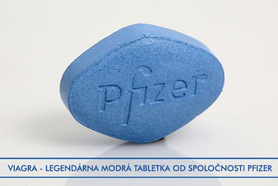 Tabletka viagry známa aj ako modrá tabletka je vyrábaná spoločnosťou Pfizer.
